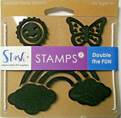 Stash Stamps for Kids Set of 3 Summertime  Foam mounted on Plastic Ages 3 +](Summer Crafts For Kids)