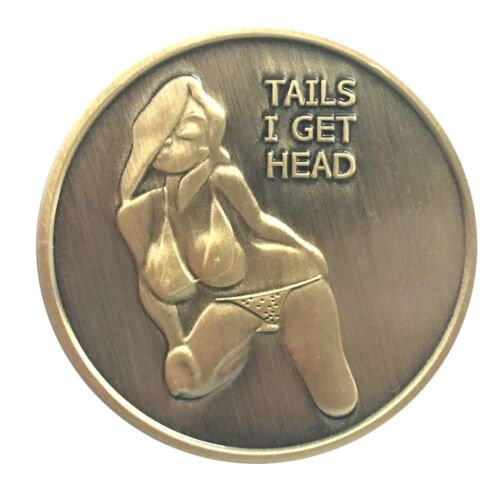Poster PinUp Bikini Girl Heads Tail Good Luck Token Coin US SELLER FAST SHIPPING