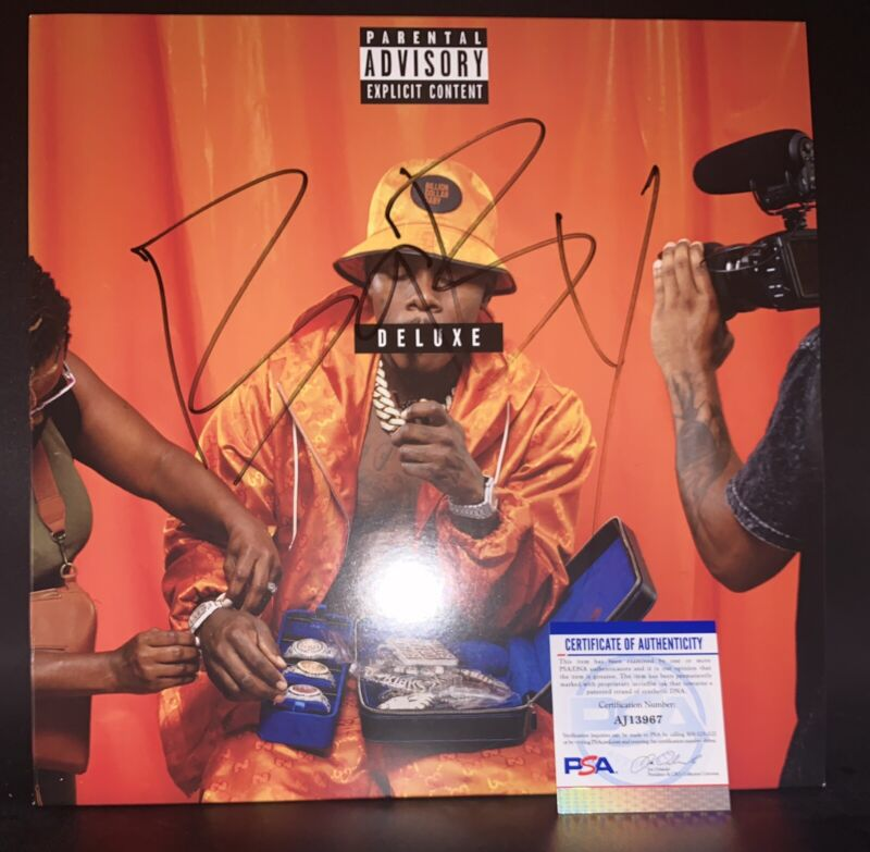 Dababy Signed Vinyl PSA Authentication