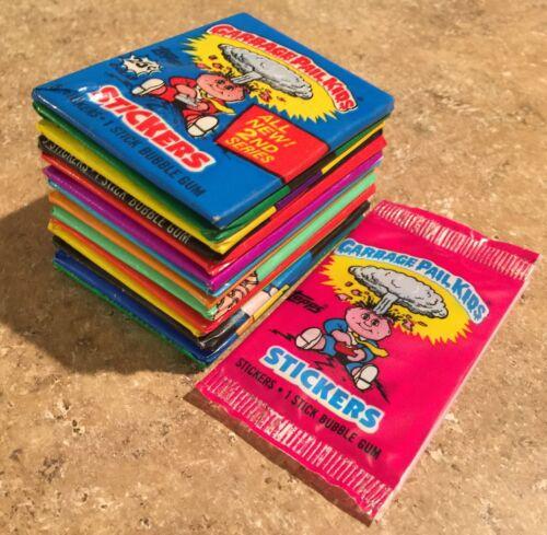 1985-88 Garbage Pail Kids 15-Unopened Wax Pack Lot 1st-15th Series, UK OS1,  TWT