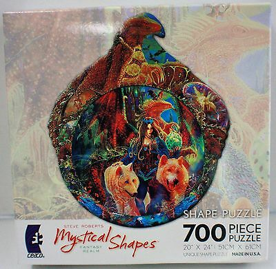 700PC DRAGONS EGG FANTASY SHAPE JIG SAW PUZZLE STEVE ROBERTS 700 PIECE USA MADE (Shape Puzzles)