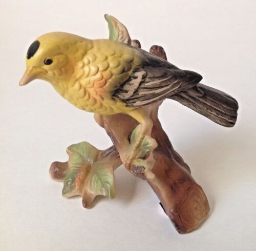 Vintage Norleans Yellow Gold Finch Bird Figurine Japan 4""