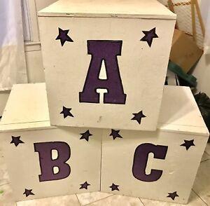 Large ABC Wooden Boxes