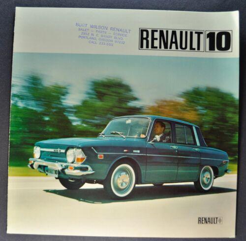 1968 Renault 10 Sales Brochure Folder Excellent Original 68