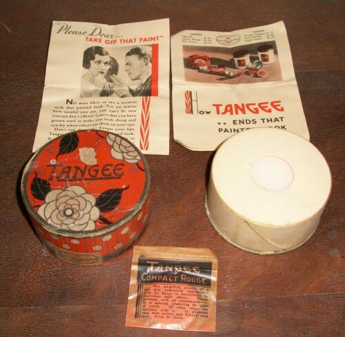 Vintage Unopened Tangee Powder Box and Sample