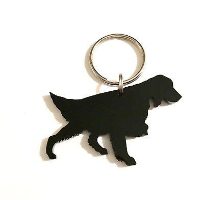 Irish Setter Dog Keyring Keychain Bag Charm Gift In Black With Gift Bag