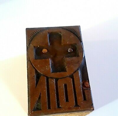 Letterpress Printing Print Block Press Wood Copper Type Red Cross Join 1 12