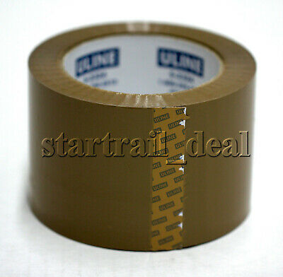 Uline 110 Yards X 3 1.8mil Packaging Shipping Tape Brown Tan Sealing Moving Box