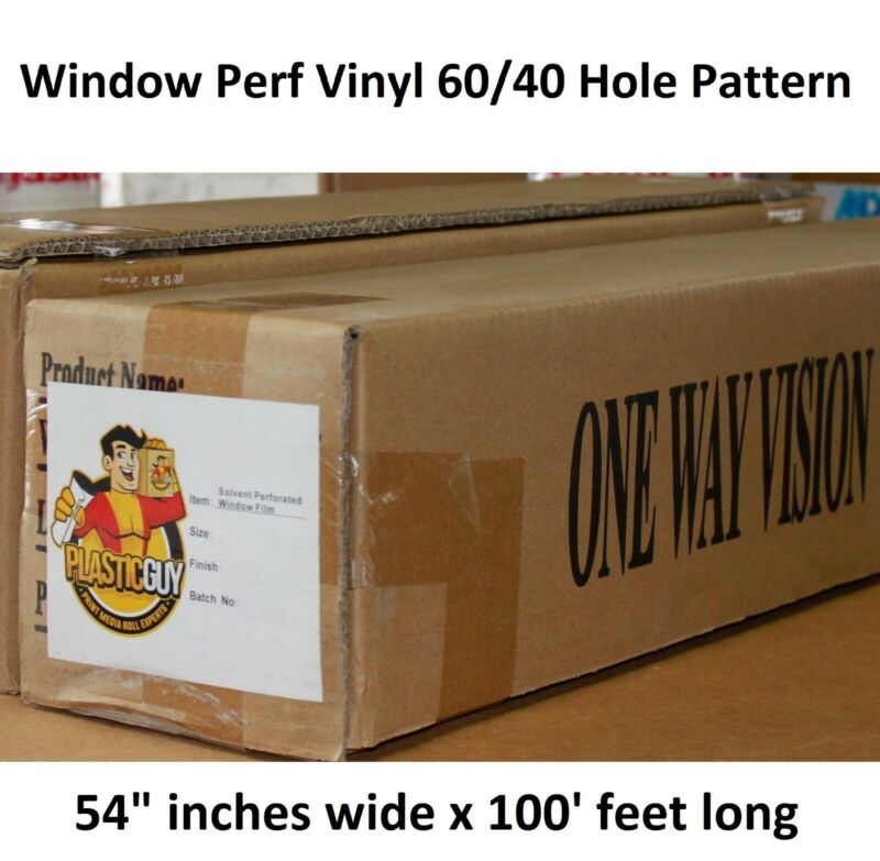 "High Performance Perforated Window Vinyl Roll 54"" x 100"