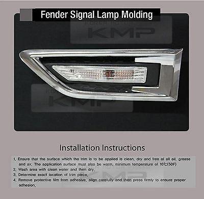 Fender Signal Lamp Chrome Molding 2Pcs for KIA 2008 2009 2010 2011 2012 Soul