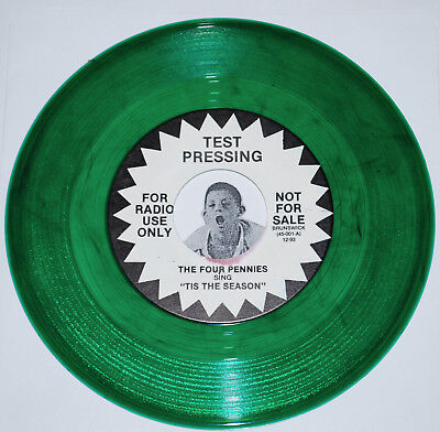 THE FOUR PENNIES~Tis The Season / JESSE ALLEN~Let's Party~Green Vinyl