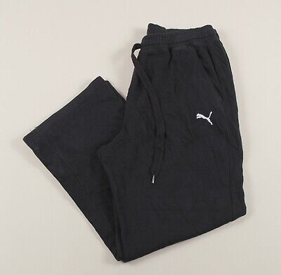 PUMA Black Jogging Bottoms Joggers Track Pants Size Womens Medium /J41051