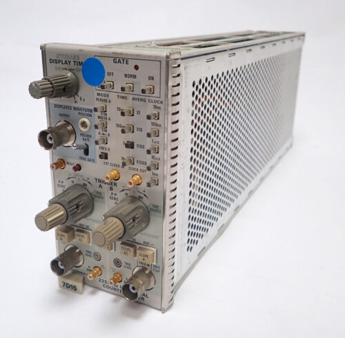 TEKTRONIX 7D15 FREQUENCY COUNTER PLUG IN 225 MHz for 7000 SERIES SCOPE, Tested!