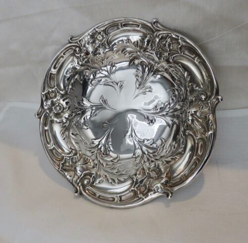 """Reed and Barton Sterling Les Six Fleurs Art Nouveau  Tazza  ~ Compote 9""""  441 g."""