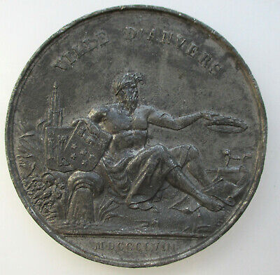 België Medaille 1858 Concours de Chant Antwerpen 50mm.