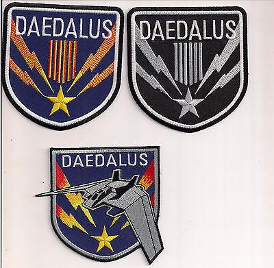 """Stargate SG-1 Daedalus Screen Accurate 4"""" Patch Set of 3-(SGPA-DA-Set-3)"""