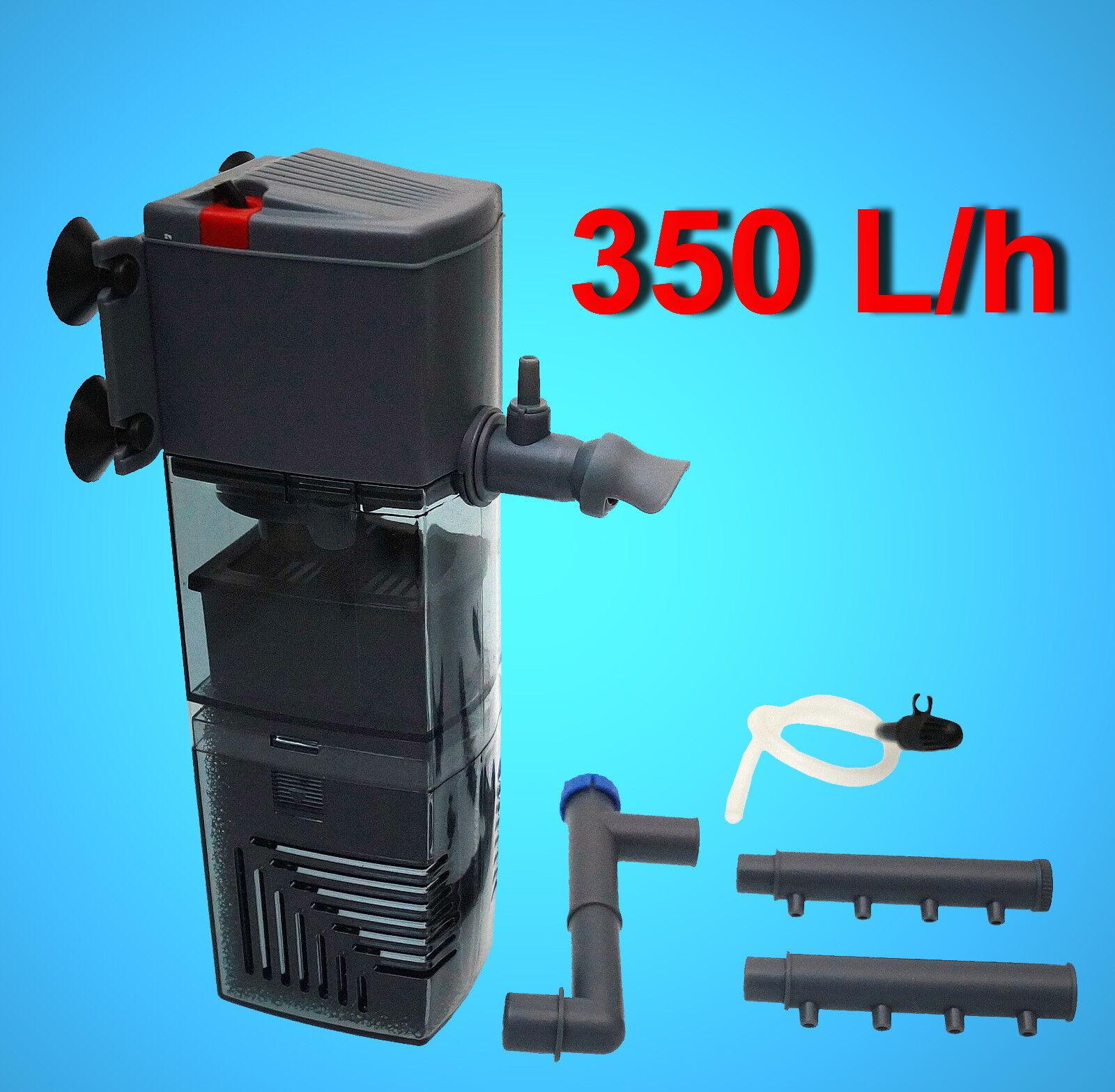Aquarium 🍀 INNENFILTER 60-120 L🍀 ✚ Zubehör Aquariumfilter Pumpe Aktivkohle