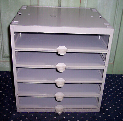 Midwest Fastener Hardware Parts Cabinet Heavy Duty W5 Sliding Drawers Gray