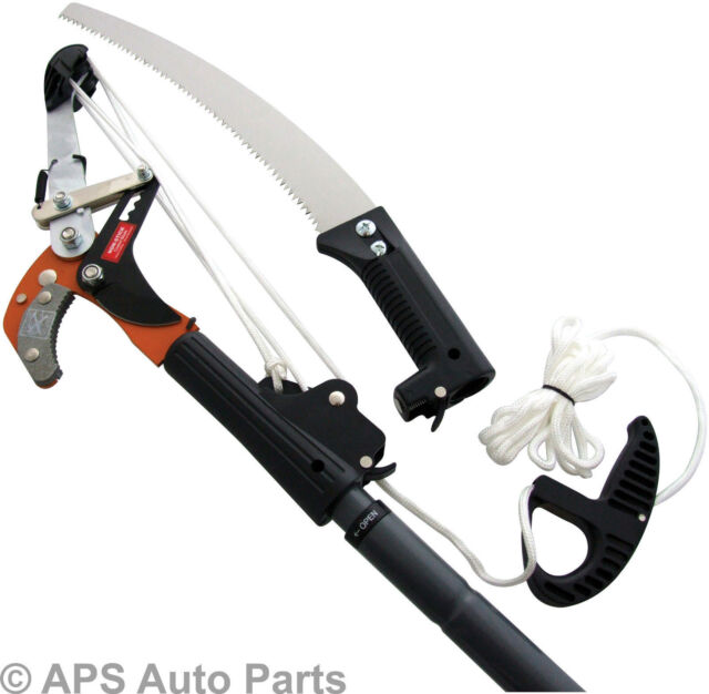 Telescopic 2.4m Ratchet Tree Saw Lopper Extendable Prunning Cutting Branch New