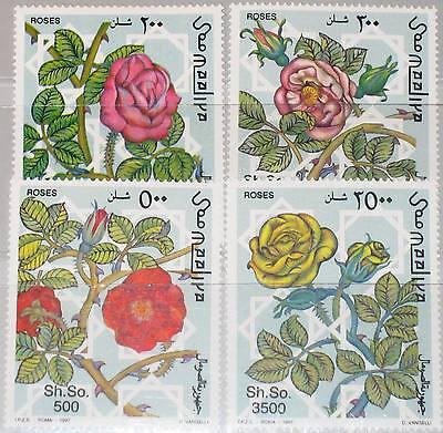 SOMALIA 1997 653-56 Rosen Roses Blumen Flowers Flora Pflanzen Plants MNH