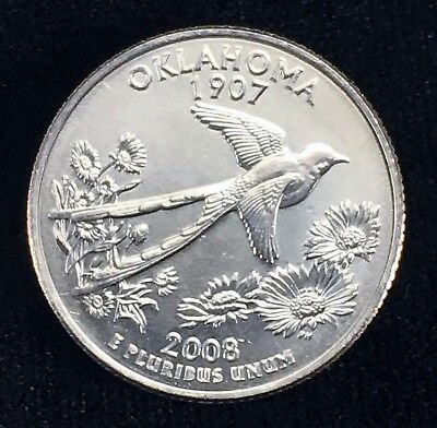 2008 D MINT Oklahoma State Quarter :: Uncirculated :: OK :: Shipping Discount!