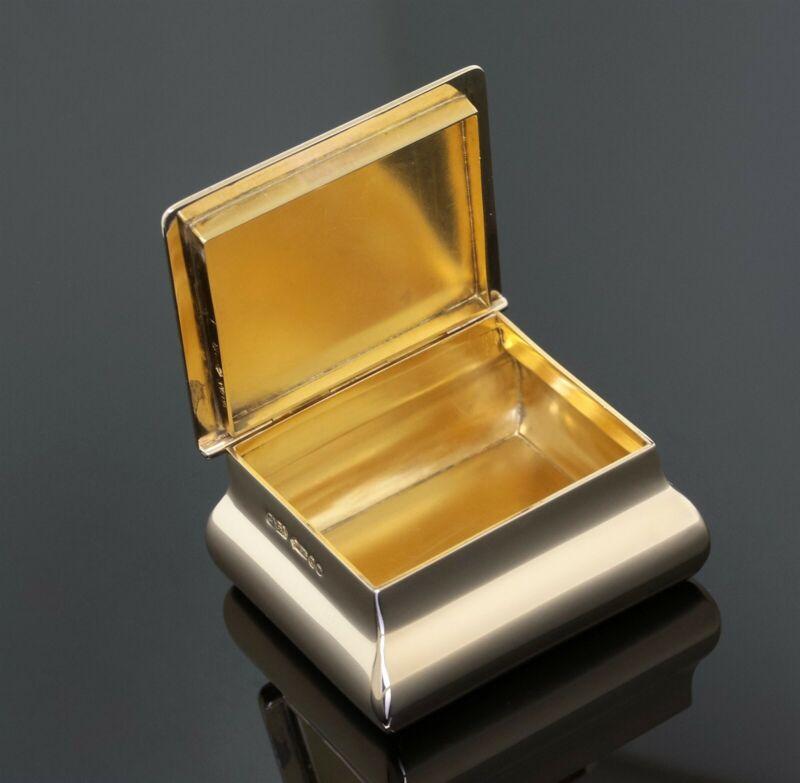 Antique Asprey London 9K Yellow Gold Tobacco Snuff or Pill Box/Case