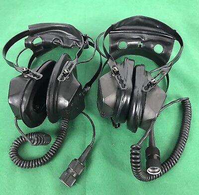 lot of 2 Radio Headsets H251/U,  Electro Voice & Sonetronics, untested