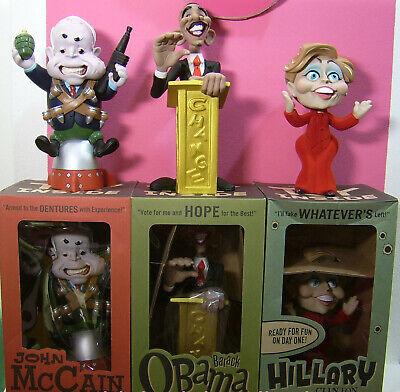 Barack Obama Hillary Clinton, John McCaine, Designer Vinyl Toy Figure
