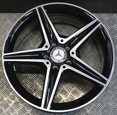 1x Mercedes Benz Alufelge C Klasse W205 AMG 7,5Jx18 ET33 A2054014800 Schwarz