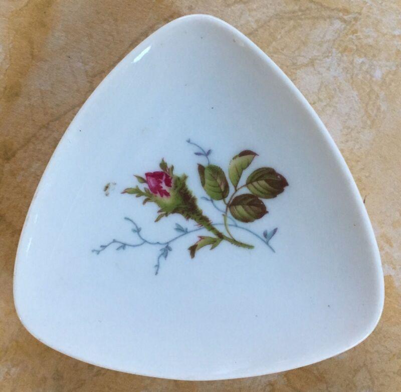 Rosenthal Selb-Plossberg Butter Pat Dish Plate Pink Rose Flower Germany 625