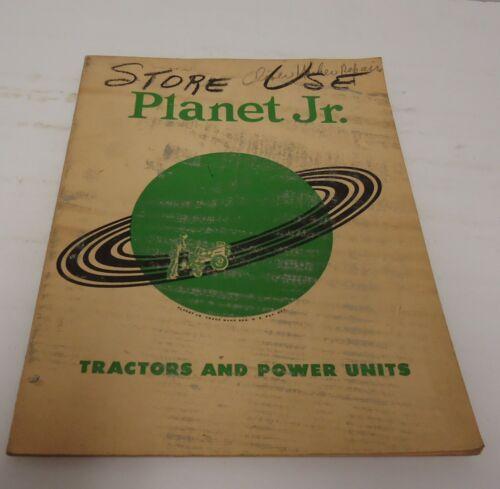 Vintage planet junior catalog price list tractor power unit guide dealer value