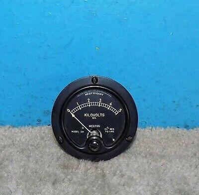 Weston Model 506 Kilovolts Panel Meter 0-5kv 2.75 Free Shipping
