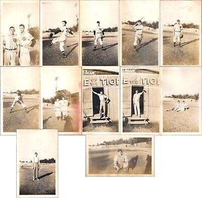 1930s Marshall Texas Tigers Baseball Team Players Ballfield Outfield Sign Photos