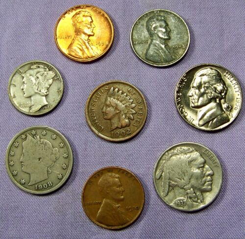 Mercury Silver Dime Starter Collection Lot of 8 Old US Coins