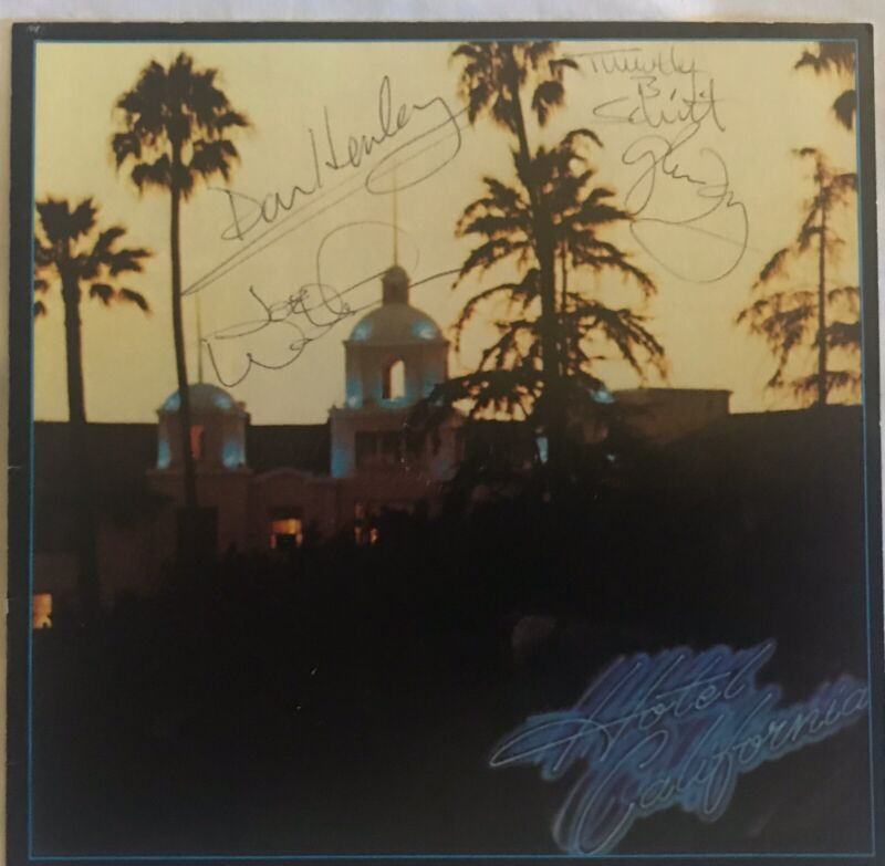 THE EAGLES - Signed / Autographed 'HOTEL CALIFORNIA' CD - Frey/Henley **JSA RARE