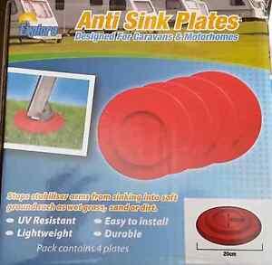 4 pack of round Caravan anti sink leg plates Proserpine Whitsundays Area Preview