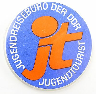 #e5848 DDR Abzeichen / Pin Jugendreisebüro Jugendtourist JT