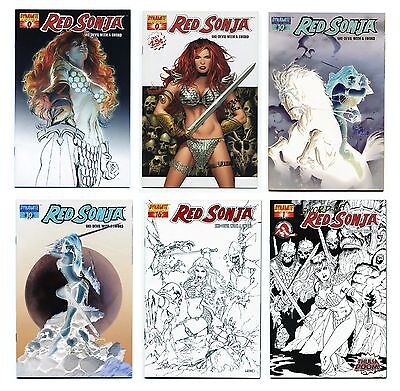 Red Sonja Lot 0 10 16 1 Sword of Red Sonja Variant Covers Ltd Dynamite Ross