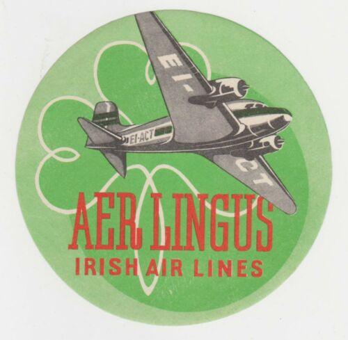 Vintage Aer Lingus Irish Air Lines Luggage Label Sticker
