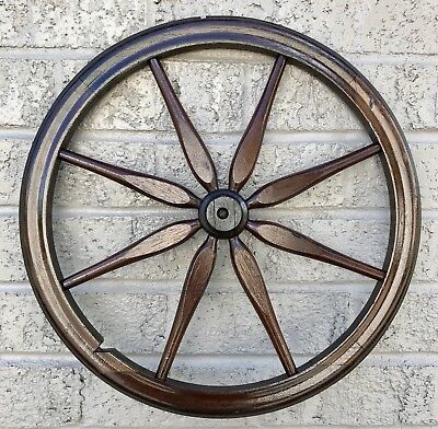 "Vintage / Antique Wooden Cart Wheel - 16.25"" Diameter"