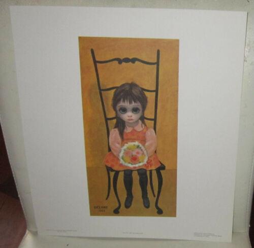 "Vintage Margaret Keane print  ""Waiting for Grandmother"" 1962 - big eyes girl"