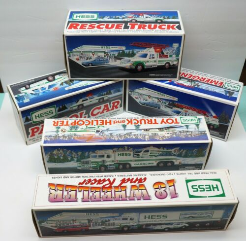 (5) EMPTY HESS TRUCK BOXES 1992 - 1996