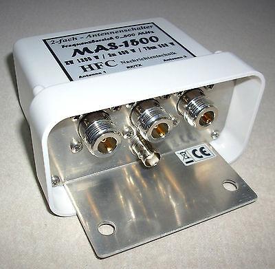 2-fach Antennenschalter MAS-1500 (0-500 MHz) N-Norm