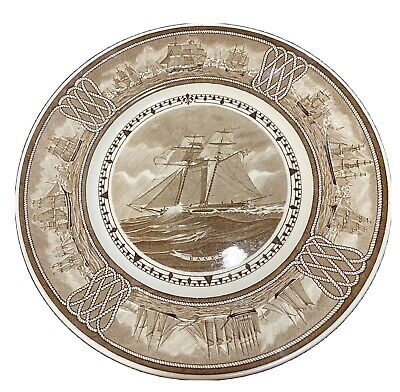 """Wedgwood The American Sailing Ship """"Raven"""" Commemorative Plate 10.75"""" 1950"""