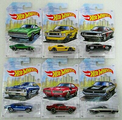 Hot wheels 2019 detroit muscle 6 pcs set boss gto camaro nova torino challenger
