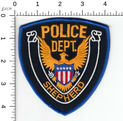 SHEPARD POLICE DEPARTMENT (OLDER VERSION) STOCK EAGLE MICHIGAN MI PATCH