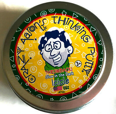 Icicle Christmas Holiday Glow In Dark Crazy Aarons Thinking Putty 2  Tin  47Oz