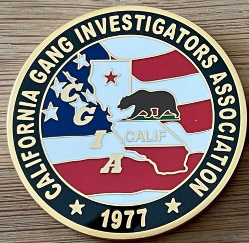 California Gang Investigators Association Gold 1.75in challenge coin