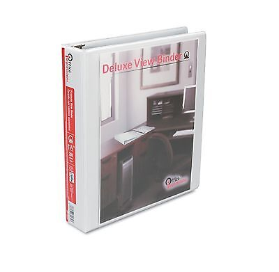 """Office Impressions View Binder Round Ring 1.5"""" White Depends on Ring Size - New"""