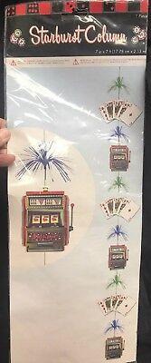 Casino Themed Hanging Decoration Foil Starburst Column Cards Slots - Casino Themed